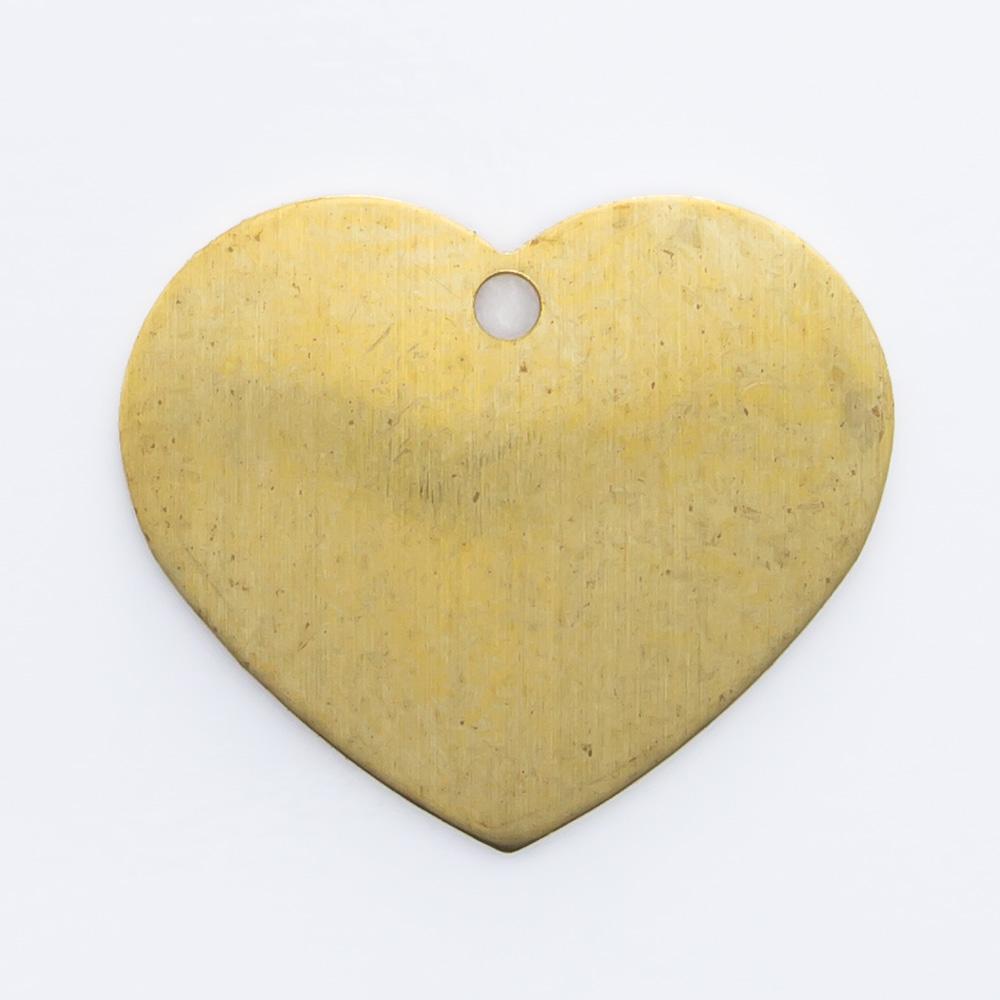 Coração abaulado com furo 12,00mmx14,23mm