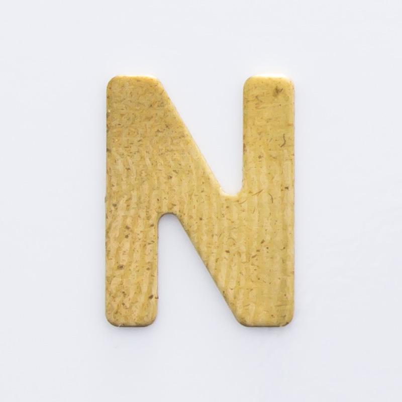 """Letra """"N"""" sem furo 8,84mmx6,64mm"""