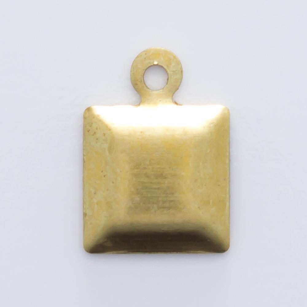Quadrado com argolinha 9,85mmx7,05mm