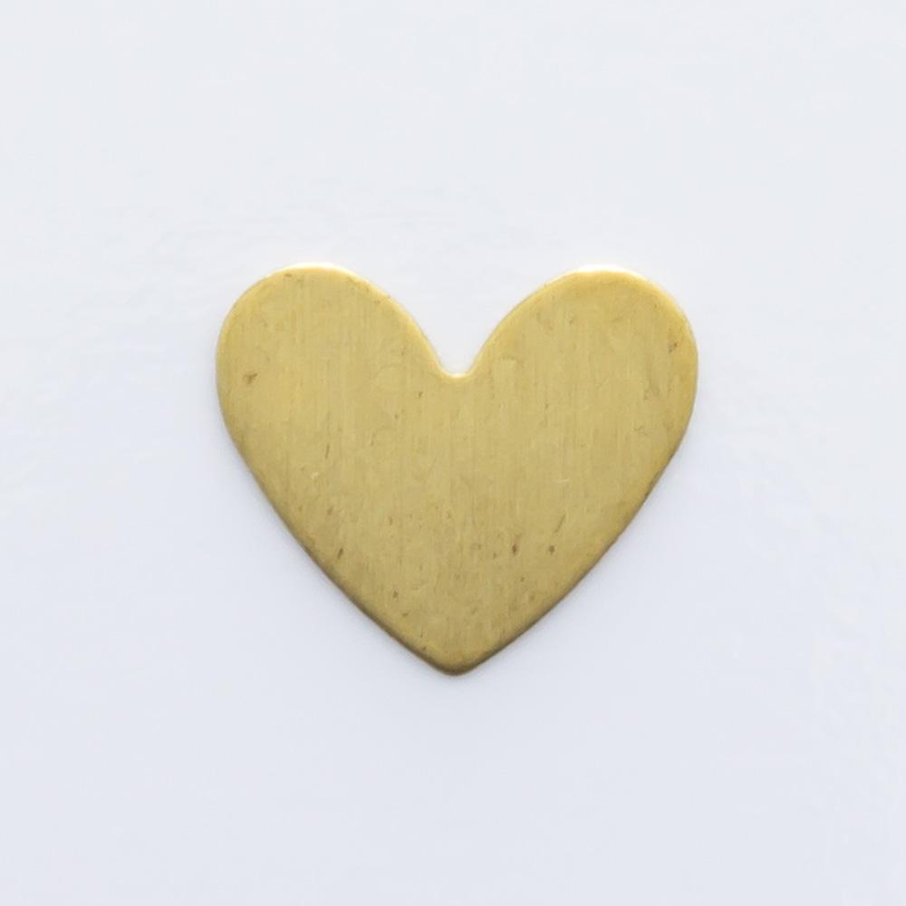 Coração sem furo 6,45mmx7,57mm
