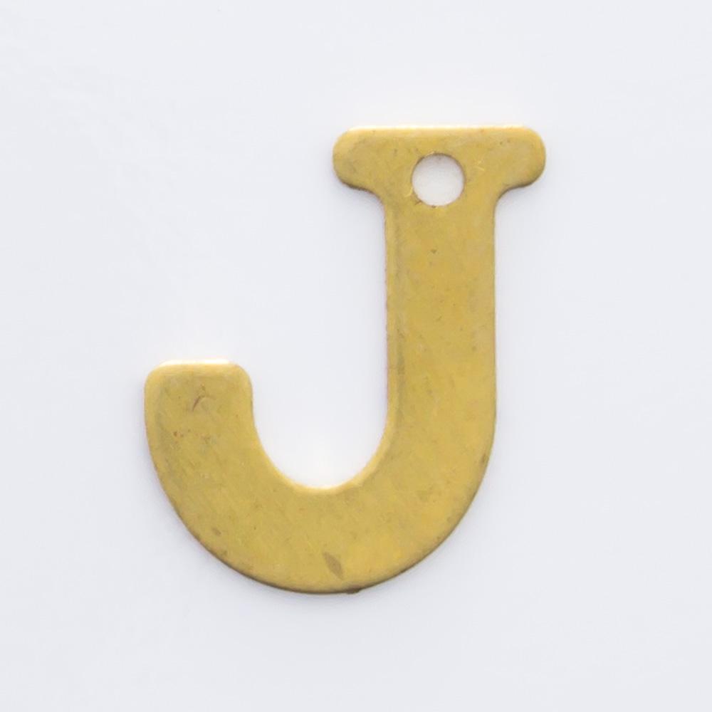 """Letra """"J"""" com furo 8,84mmx7,55mm"""