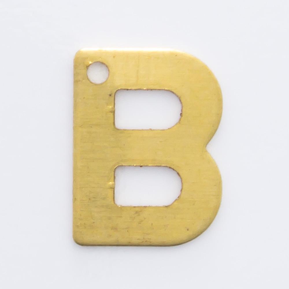 """Letra """"B"""" com furo 8,84mmx6,70mm"""