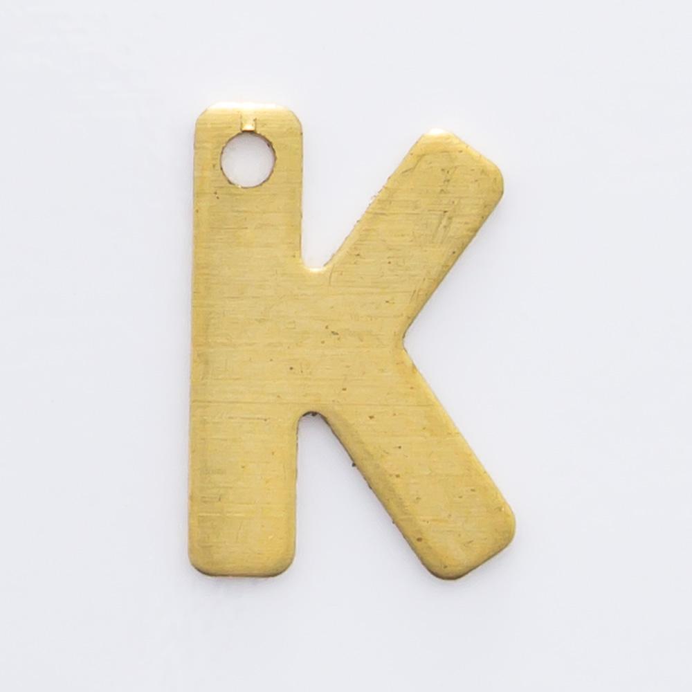 """Letra """"K"""" com furo 8,84mmx6,13mm"""