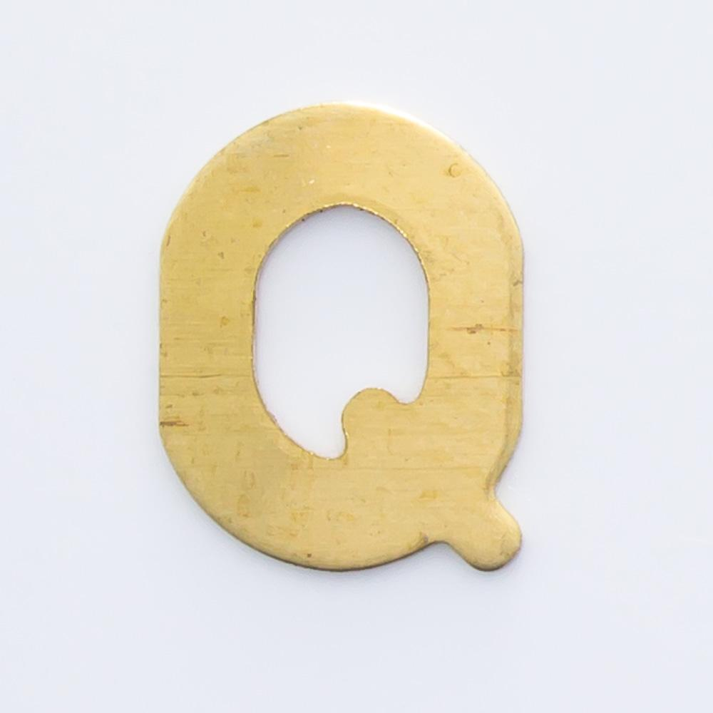 """Letra """"Q"""" sem furo 8,84mmx6,80mm"""