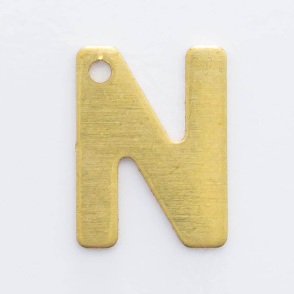 """Letra """"N"""" com furo 8,84mmx6,65mm"""