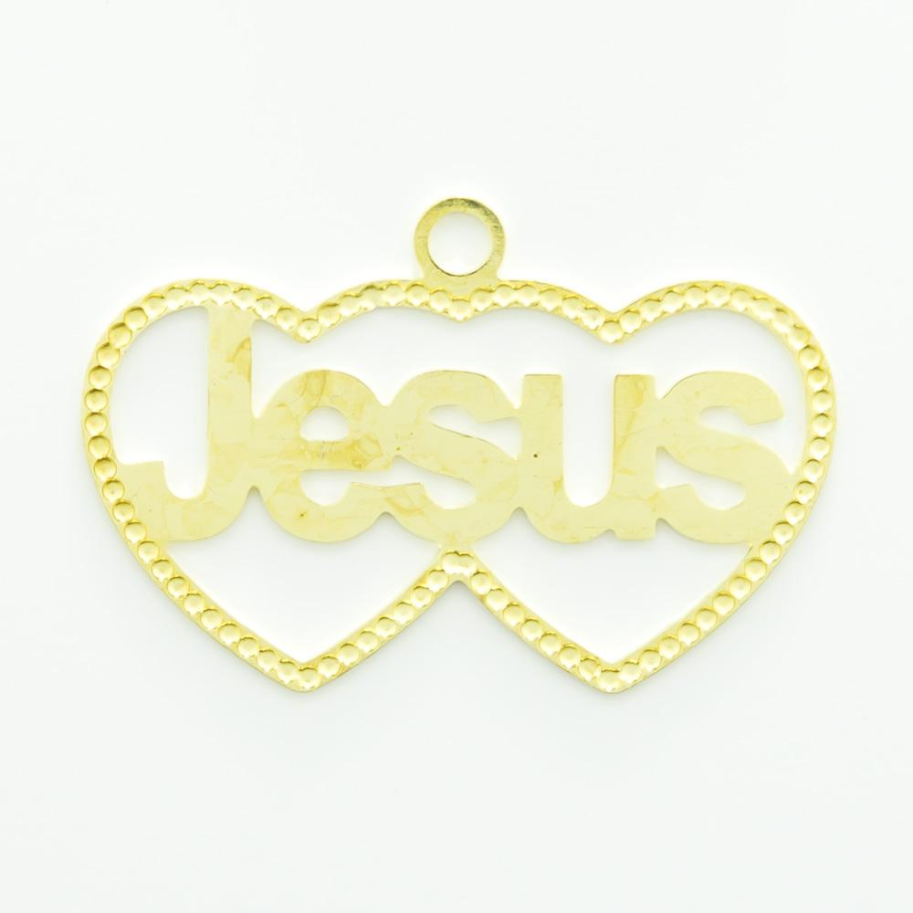 Pingente Corações Jesus 14,00mmx21,26mm