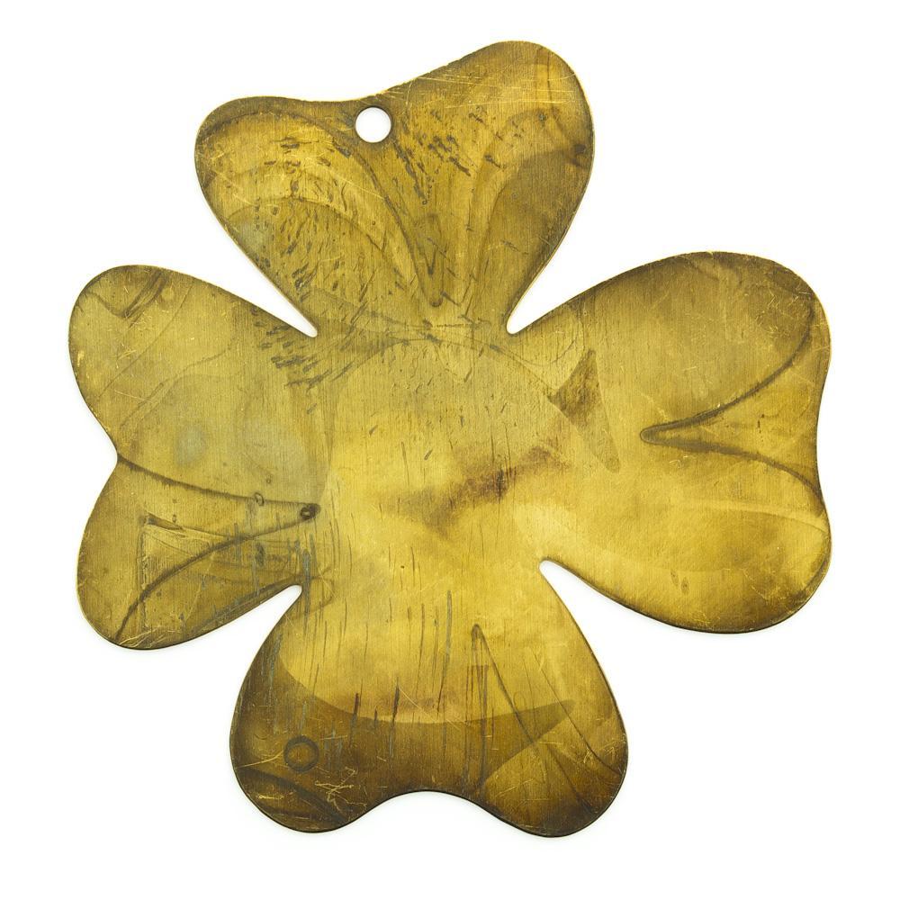 PingenteTrevo de quatro folhas com furo 39,75mmx38,01mm