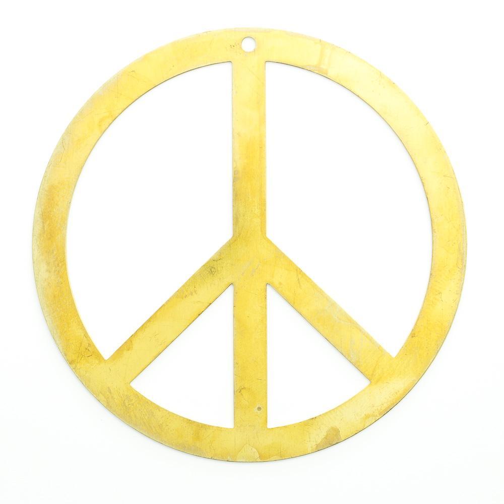 Símbolo da paz com furo 59,00mmx59,00mm