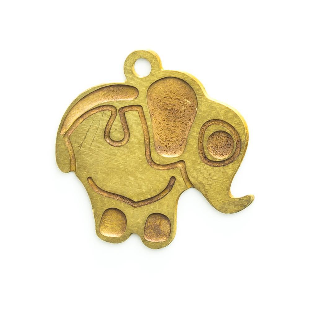 Pingente Elefante 13,83mmx14,20mm