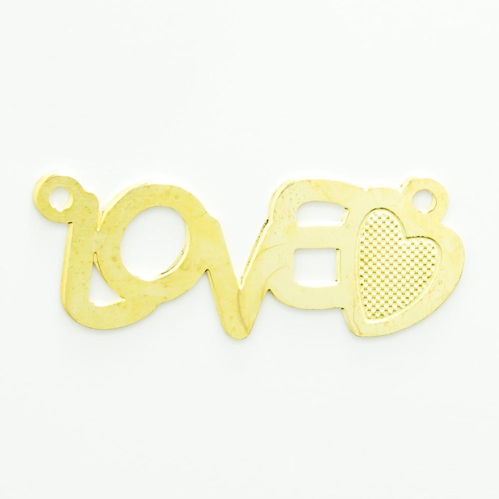 Pingente Love com 2 argolinhas 9,52mmx25,49mm