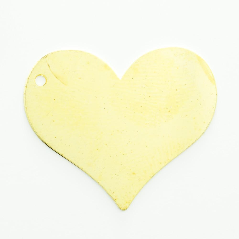 Coração com furo 20,36mmx24,20mm