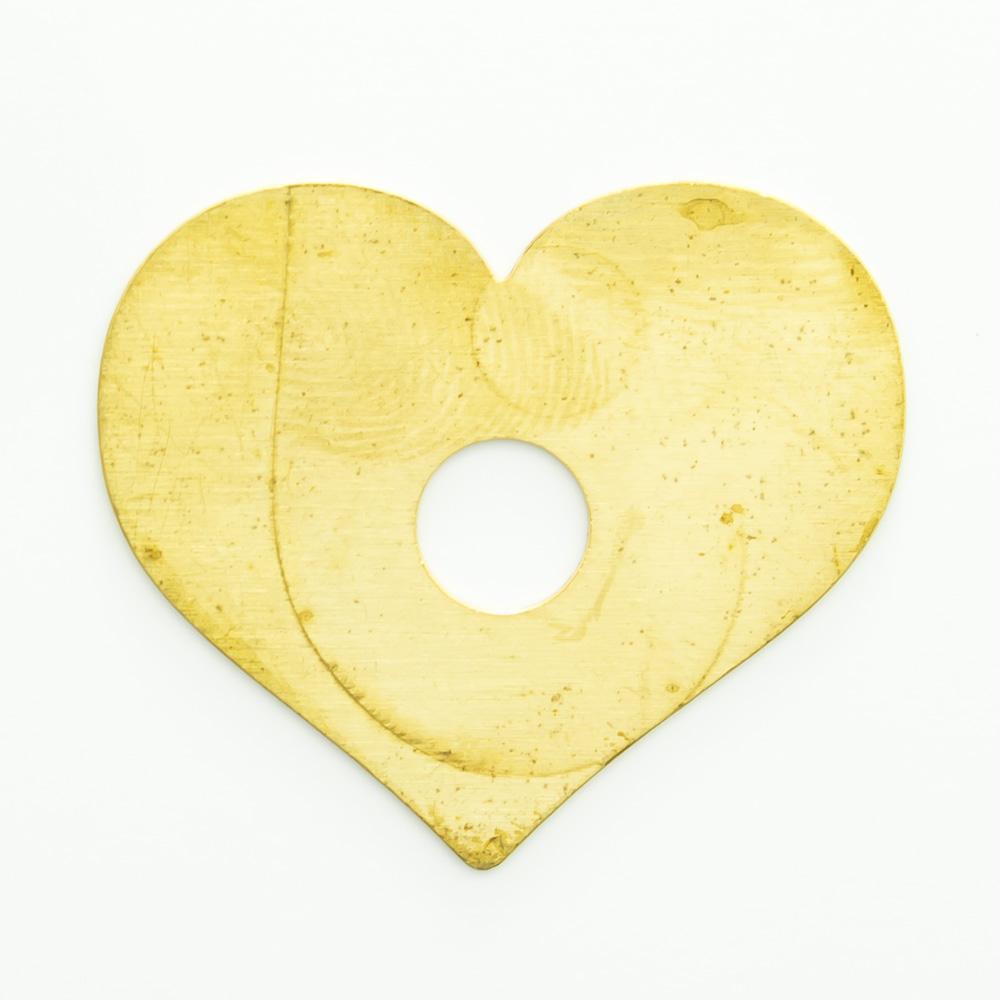 Coração com furo 20,96mmx24,56mm