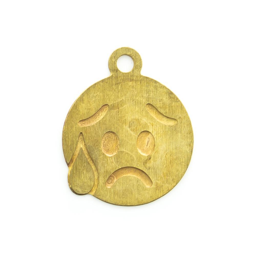 Pingente Emoji Nervoso 12,91mmx10,70mm