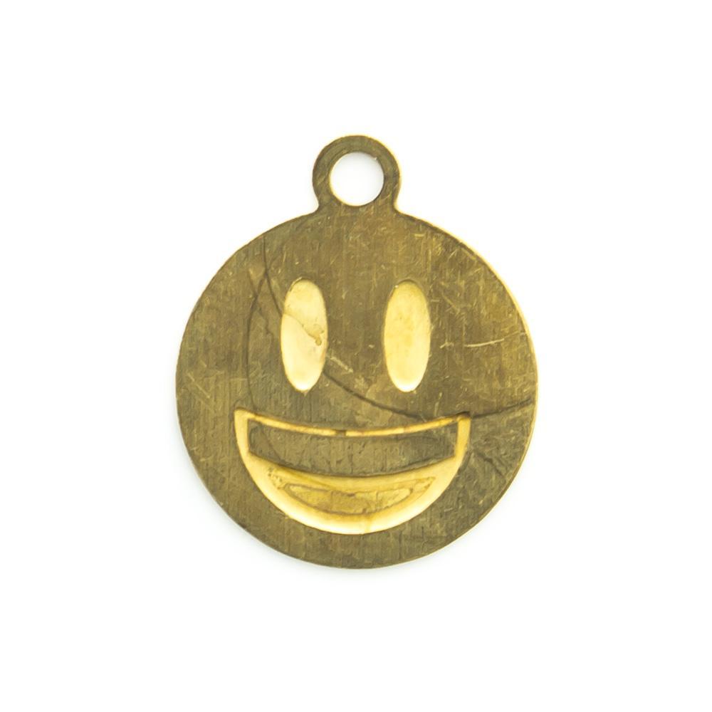Pingente Emoji Sorrindo 12,60mmx10,48mm