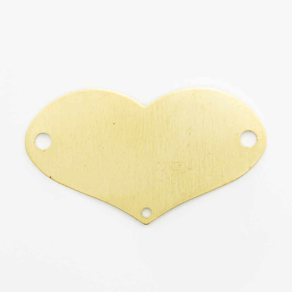 Coração com 3 furos 15,96mmx28,35mm
