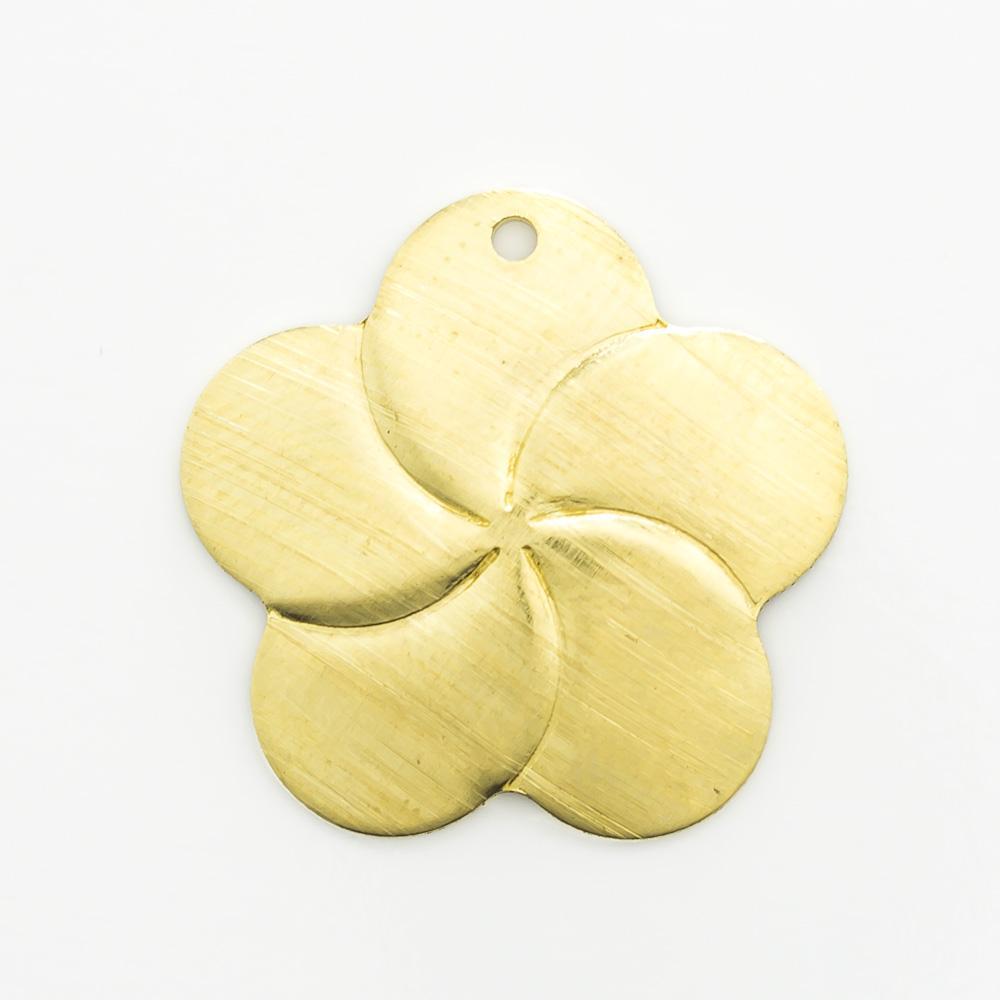 Flor com furo 16,63mmx17,02mm